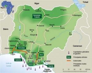 Nigeria Oil Map