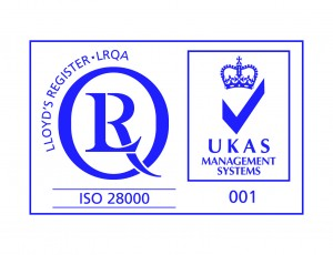 ISO 28000 with UKAS Blue